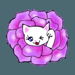 [LINEスタンプ] モテモテな華のあるマドンナ猫たん