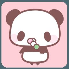 動くパンダとシマエナガ(季節の行事)