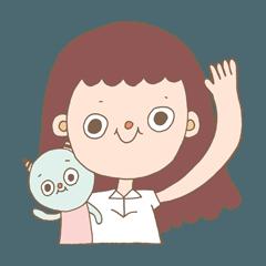 絳ちゃん(あかちゃん)とオニ(鬼)