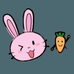 Pink Rabbit & Carrot