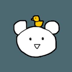 鳥とポコちゃん