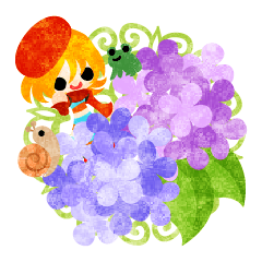 [LINEスタンプ] 紫陽花と可愛い小人 (1)